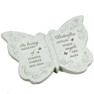 Personalised Memorial Butterfly grave or garden ornament tribute memorial garden