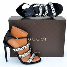 GUCCI New sz 39 - 9 Authentic Designer Womens Crystal High Heels Shoes black