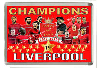 Liverpool - Champions of England -  Fridge Magnet -  Jumbo Size 90 mm x 60 mm