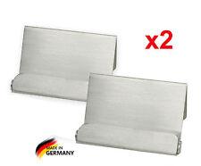 2x Visitenkartenhalter Visitenkartenständer Metall Edelstahl gebürstet
