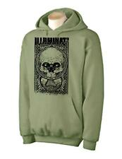 ILLUMINATI SKULL HOODIE - Conspiracy Theory NWO T-Shirt -Colour Choice
