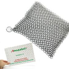 "Amagabeli 8""x6"" Stainless Steel 316L Cast Iron Cleaner Chainmail Scrubber for..."