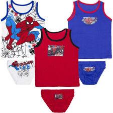Neu Unterwäsche 2tlg. Set Jungen Hemd Slip Spiderman 92-98 104-110 116-122 #x6
