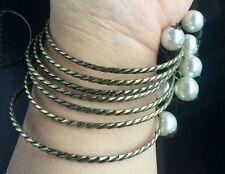 7pcs/set New fashion jewelry multiple pearl element bracelet for women