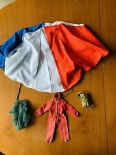 Vintage Action man Palitoy Red Devil Outfit and  Parachute