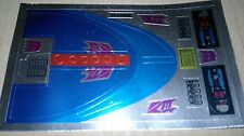 A Transformers complete replacement sticker/decal sheet for G1 Scourge
