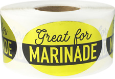 Great for Marinade Grocery Food Stickers, 1.25 x 2 Inches, 500 Labels on a Roll