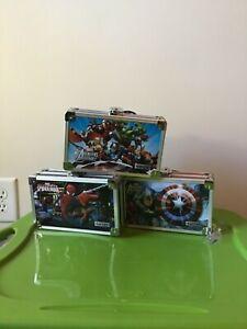 Marvel Avengers Vaultz Embossed Locking Supply Box With 2 Keys Brand New w/ Tags