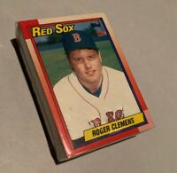 50) ROGER CLEMENS Boston Red Sox 1990 Topps Baseball Card #245 LOT