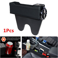 Car Passenger Right Side Seat Console Leather Catcher Storage Box w/Cup Holder