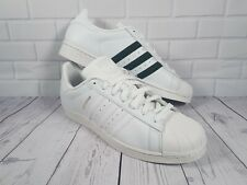 Adidas Superstar Trainers White Dark Green UK 11.5 EU 46 2/3