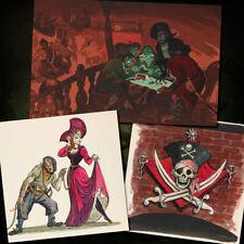 Pirates Of The Caribbean Disney Posters Art Prints Set of 3 Concept Art 3122