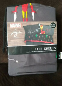 Marvel Superheroes Iron Man 4 Piece Full Sheet Set Artist Collaboration Series