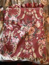 Ralph Lauren Danielle Marseilles Double/Full Size Ruffled Flat Sheet Faded