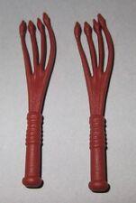 22442, 2x Fouet, cravache (Mongol 4535), Asia Chevalier, brun rouge