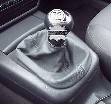 Per VW Volkswagen Passat b5 FL 2001-2005 Ghetta Del Cambio in Vera Pelle Grigio Scuro