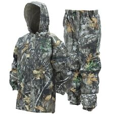 Frogg Toggs Youth Realtree Edge Camo Rain Suit Kids Polly Woggs