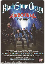 Event Promo Flyer: Black Stone Cherry/Airbourne (Motorpoint, Cardiff, 2014)