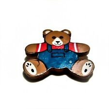Bear Pin K63 Painted Wood Teddy