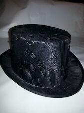 Dark Silver Gothic Top Hat Masquerade Steampunk Unisex Adult Size