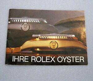 Original Prospekt Ihre Rolex Oyster Broschüre / kleines Heft Vintage Switzerland