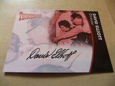 GERRY ANDERSON THUNDERBIRDS SERIES 2 DAVID ELLIOTT DE1 AUTOGRAPH CARD BLACK INK
