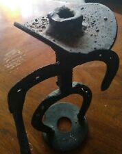 Antique Western Metal Art Decor Cowboy Forged Horseshoes and Railroad Spike RARE