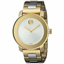 Movado BOLD 3600129 Silver Dial Midsize Two Tone Ladies Quartz Watch
