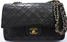 Chanel 2.55 Borsa Bag a Tracolla Nero Noir MATELASSÉ used 25.5x17cm