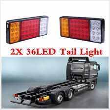 Universal 2Pcs Car Truck 12V 36LED Tail Light 3 Colors Indicator Light Rear Lamp