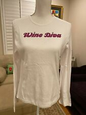 NWT ~ Wine Diva Long Sleeve T-Shirt ~ Size XL