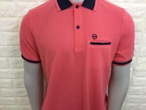Sergio tacchini men's ernshaw polo shirt S M peach pinkish bnwt reg fit