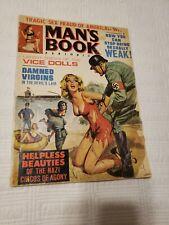 Man's Book Magazine, 1968 Feb, Nazi, torture, GGA, pulp, bondage, men adventure
