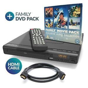 Compact DVD Player HDMI Upscaling USB Multi Region optional HDMI+ 4 DVD