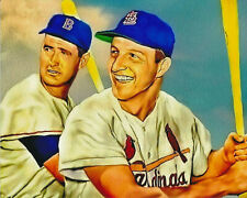 ted williams red sox and stan musial cardinals 8x10 art print