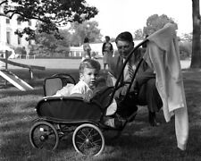John F. Kennedy Jr. in stroller on White House lawn New 8x10 Photo