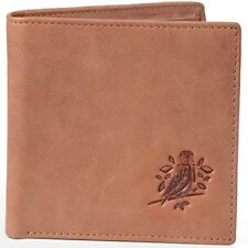 RFID Blocking Wallet for Men Genuine Brown Leather Premium Protection New Gift