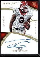 TODD GURLEY 14/25 RAMS GOLD ROOKIE AUTO #307 RPA RC SP 2015 IMMACULATE AUTOGRAPH