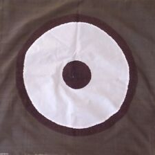 Brown & White Embroider Pillow Case Sham Cotton Handmade in Indonesia - Square