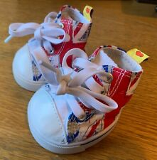 Build-A-Bear Union Jack High Top Trainers **EXCELLENT CONDITION**