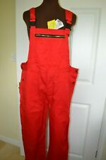 Sanfor Men's Large Red Overalls Dungarees Workwear Bib and Brace