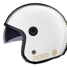Nexx X70 Freedom Open Face Motorcycle Crash Helmet With Sunvisor Gloss White L