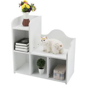 Kinderregal Aufbewahrungsregal Spielzeugablage Bücherregal Stark belastbar Weiß