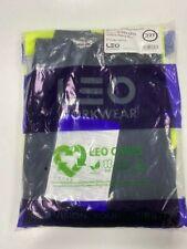Leo Workwear CT01-Y/NV Bideford SUPERIOR CARGO HI VIS TROUSER YELLOW / NAVY 32T