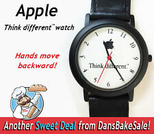 Apple Computer Vintage Watch- Think Different Backwards Movement - Nice!