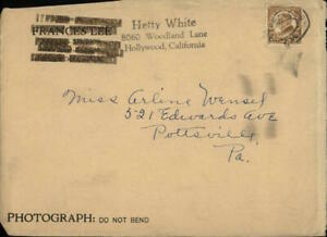 Hollywood California (CA) Envelope Hetty White Arlene Wnesel