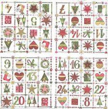 4 Serviettes en papier Calendrier de l'avent Decoupage Paper Napkins Advent