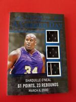 SHAQ SHAQUILLE O'NEAL GAME USED JERSEY CARD #d24/25 LEAF 2020 ITG A CAREER DAY