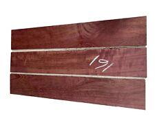 "3 PACK, Purpleheart Thin Stock Lumber Board/Wood Blanks/Lathe 24""x4""x1/4"" , #161"