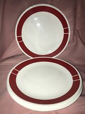 """Set of 4 Corelle Urban Red  10 1/4"""" dinner plates Discontinued"""